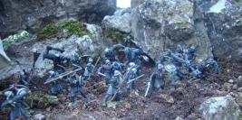 Gondor armies in fight with mighty trolls