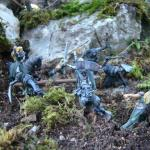 Galadriel and elves in fight with orcs